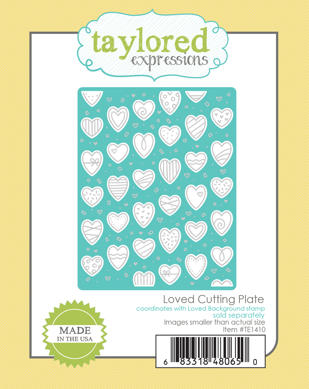 *NEW* - Taylored Expression - Loved Cutting Plate DUE IN FEBRUARY