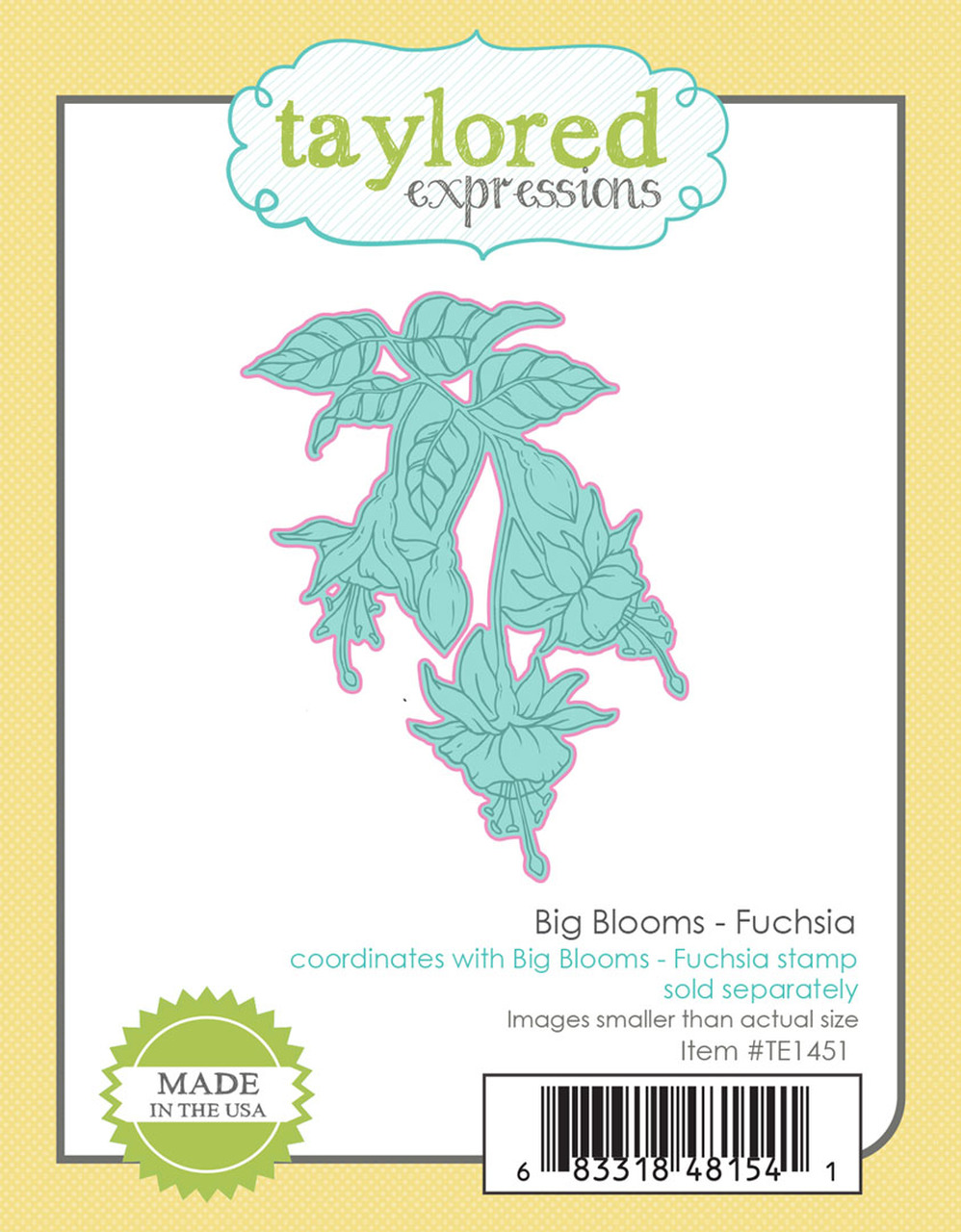 Taylored Expression - Big Blooms - Fuchsia Die