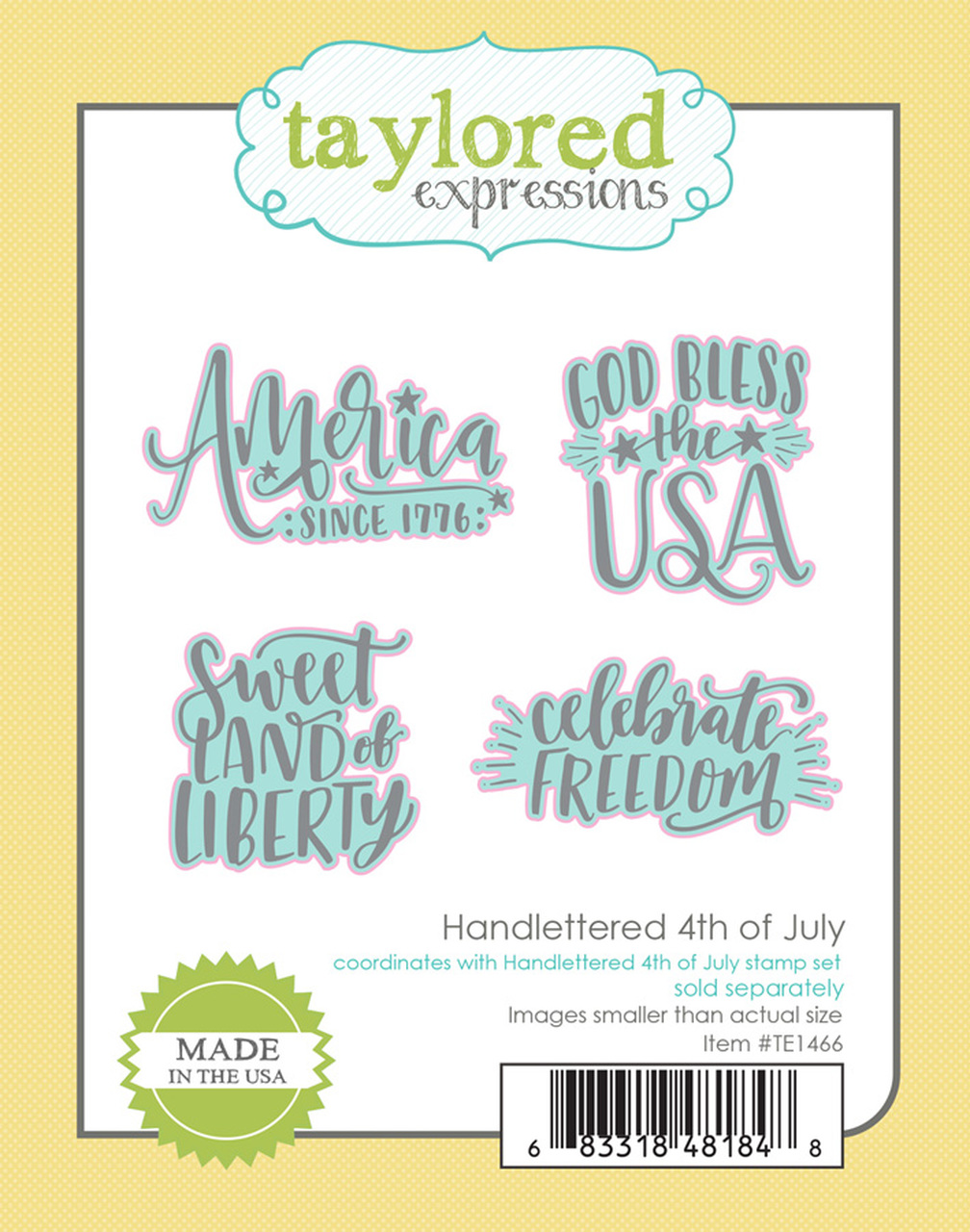 *NEW* - Taylored Expression - HANDLETTERED 4TH OF JULY DIES
