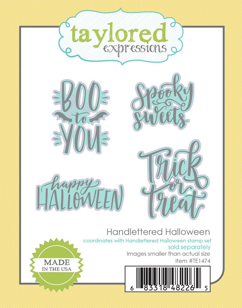 **PRE-ORDER* - Taylored Expression - HANDLETTERED HALLOWEEN DIES