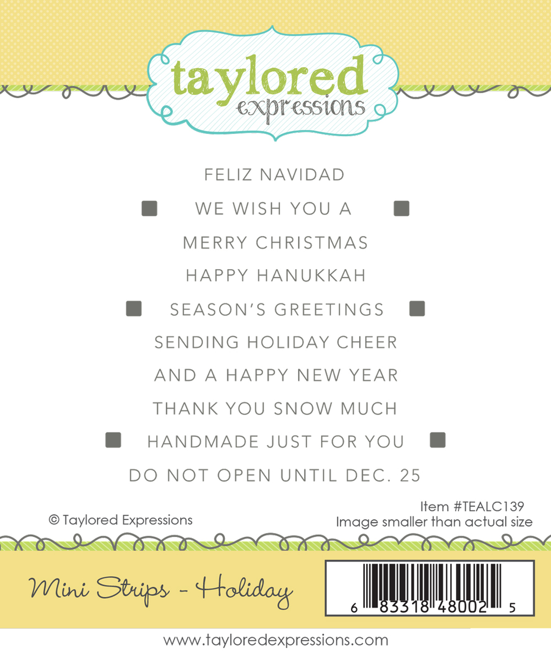 Taylored Expression - Mini Strips - Holiday