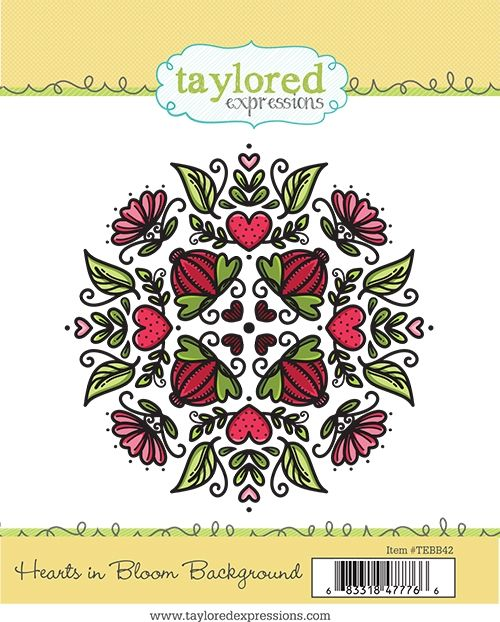Taylored Expression - Hearts in Bloom Background