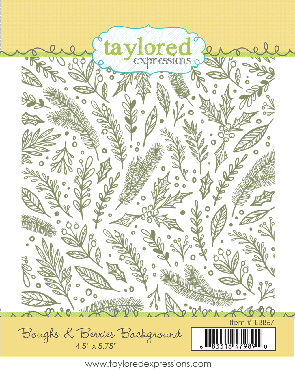 Taylored Expression - Boughs & Berries Background