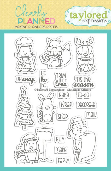 * NEW * - Taylored Expression - Clearly Planned - Christmas Critters