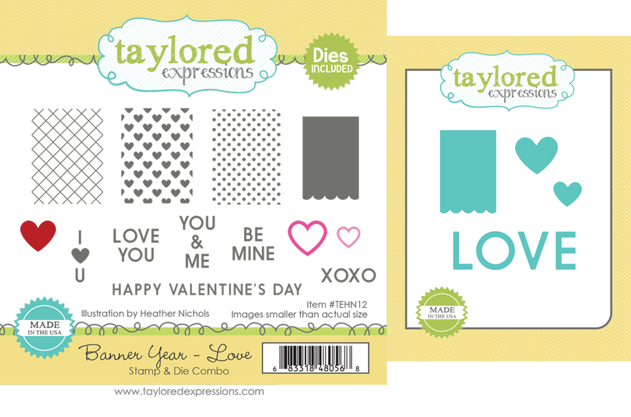 *NEW* - Taylored Expression - Banner Year - Love Stamp & Die Combo
