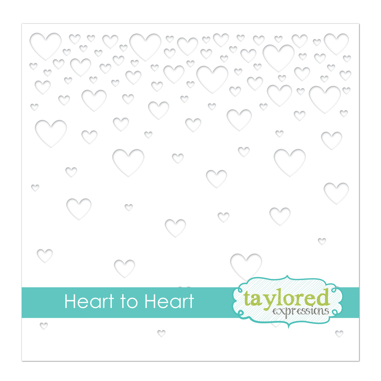 *NEW* - Taylored Expression - Heart to Heart Stencil