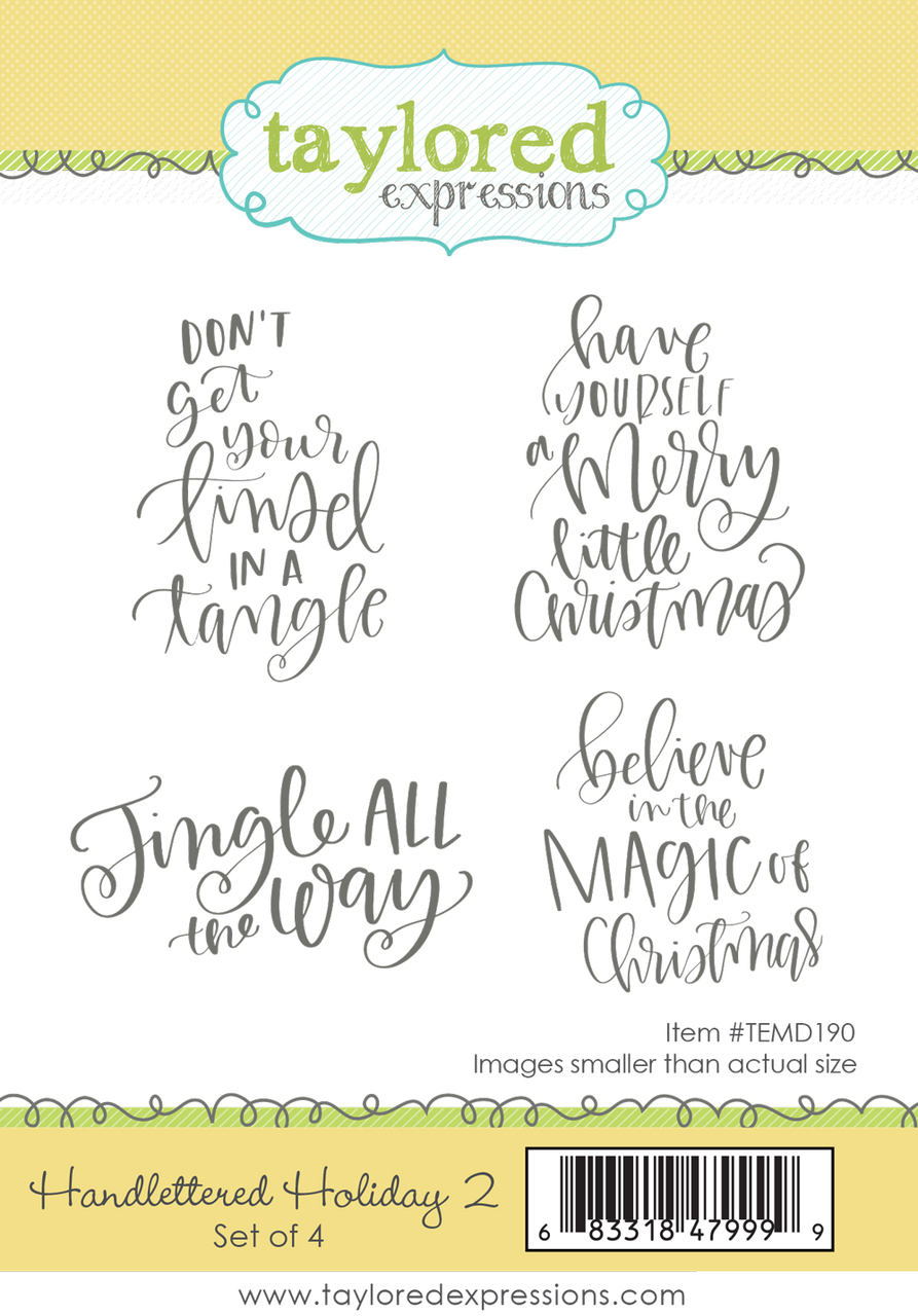 Taylored Expression - Handlettered Holiday 2