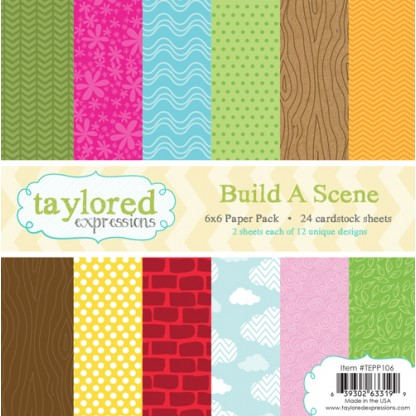 Taylored Expressions - TE 6x6 Paper Pack - Build a Scene