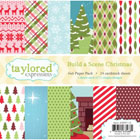 Taylored Expressions - TE 6x6 Paper Pack - Build a Scene Christmas