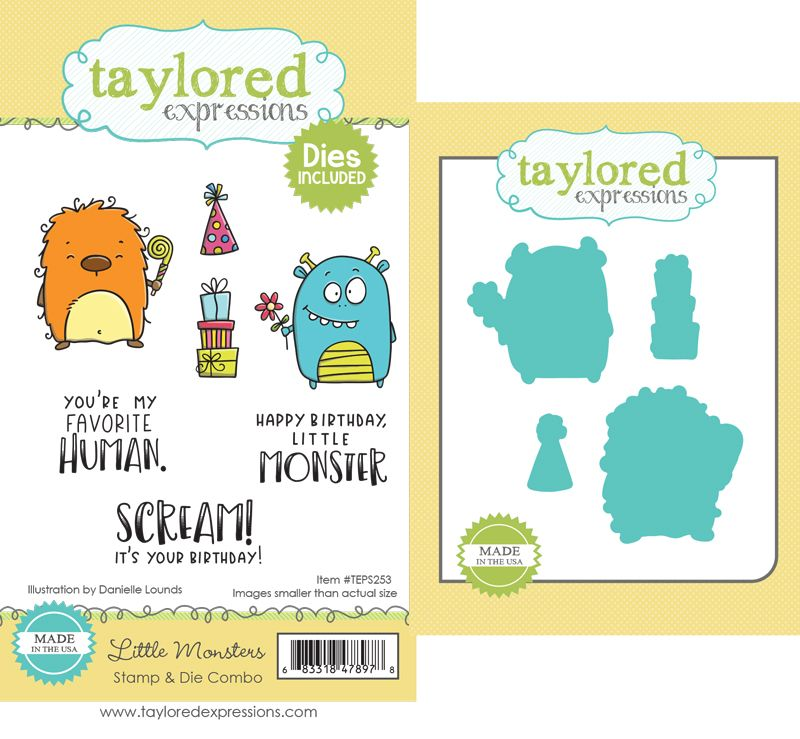 Taylored Expression - Little Monsters Stamp & Die Combo