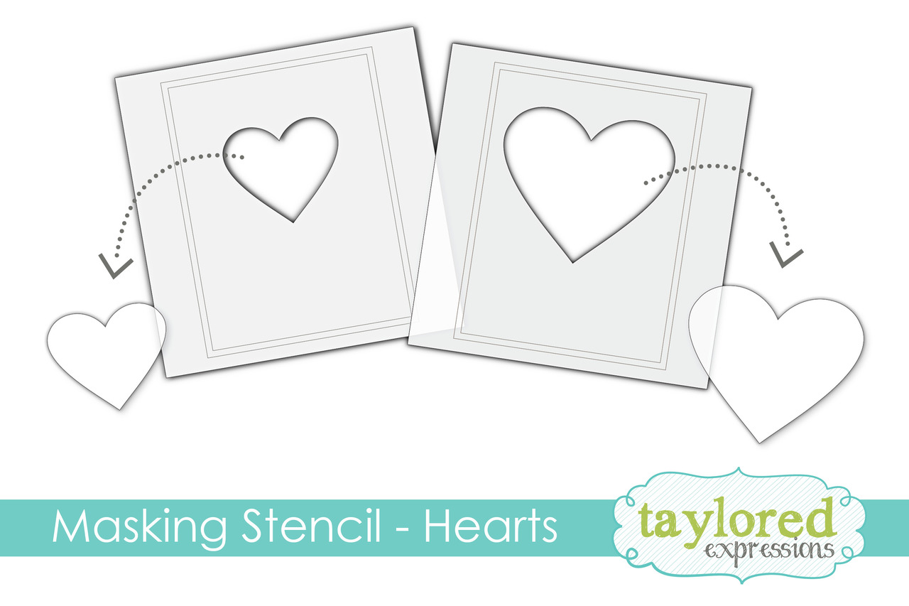 *NEW* - Taylored Expression - Masking Stencils - Hearts