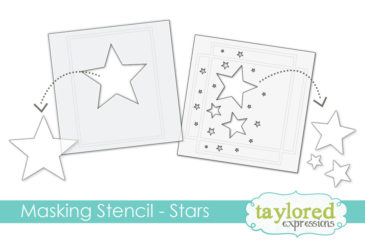 *NEW* - Taylored Expression - MASKING STENCILS - STARS