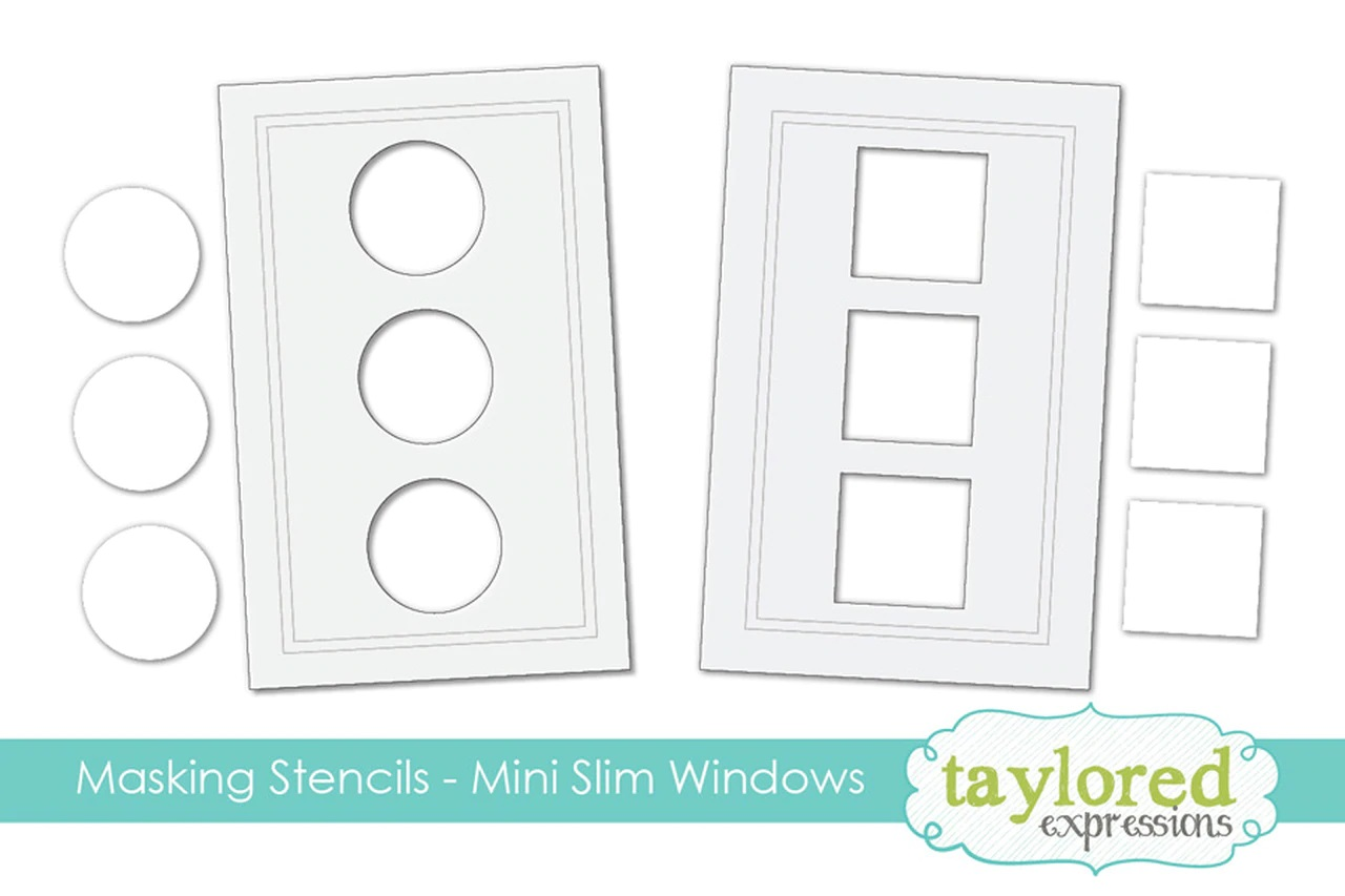 **PRE-ORDER* - Taylored Expression - MASKING STENCILS - MINI SLIM WINDOWS