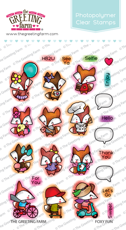 *NEW* -  The Greeting Farm - Foxy Fun - Clear