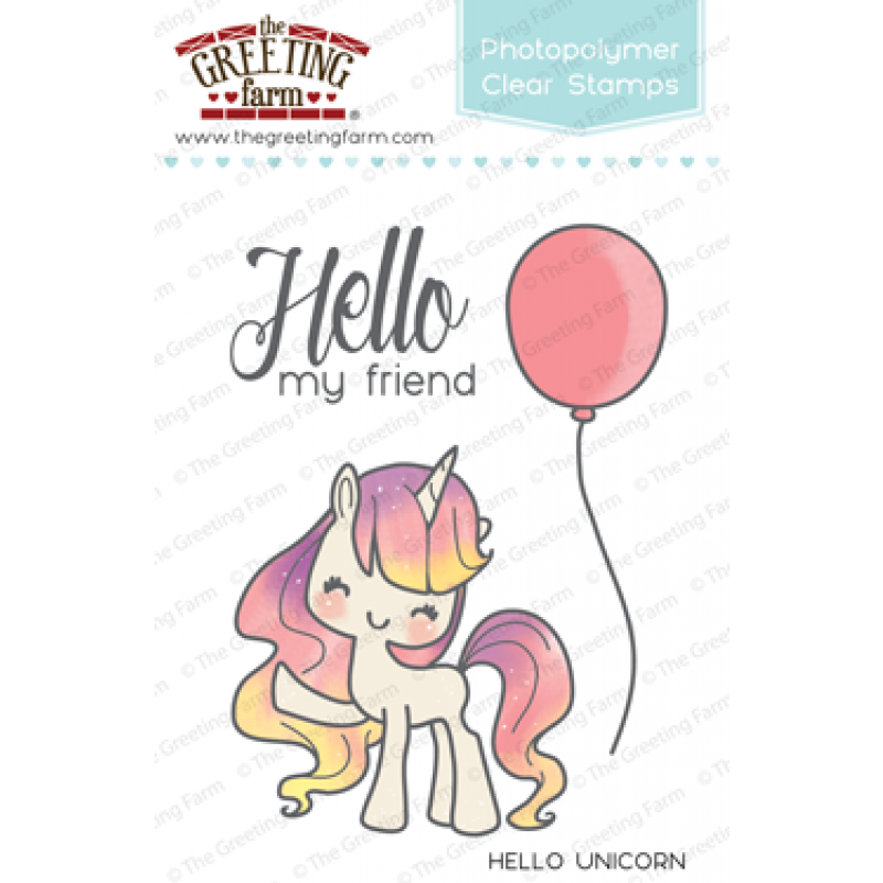 The greeting farm dies to die for the greeting farm hello unicorn clear stamp set m4hsunfo