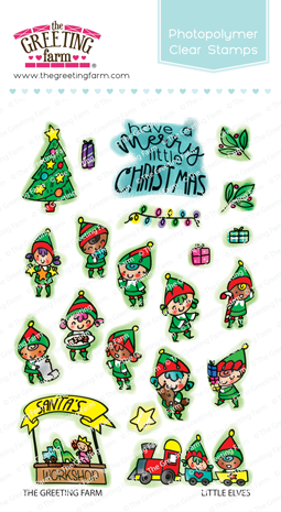 *NEW* -  The Greeting Farm - Little Elves - Clear