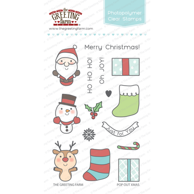 *CS*Greeting Farm Pop Out Xmas - Clear STAMP AND MATCHING DIE