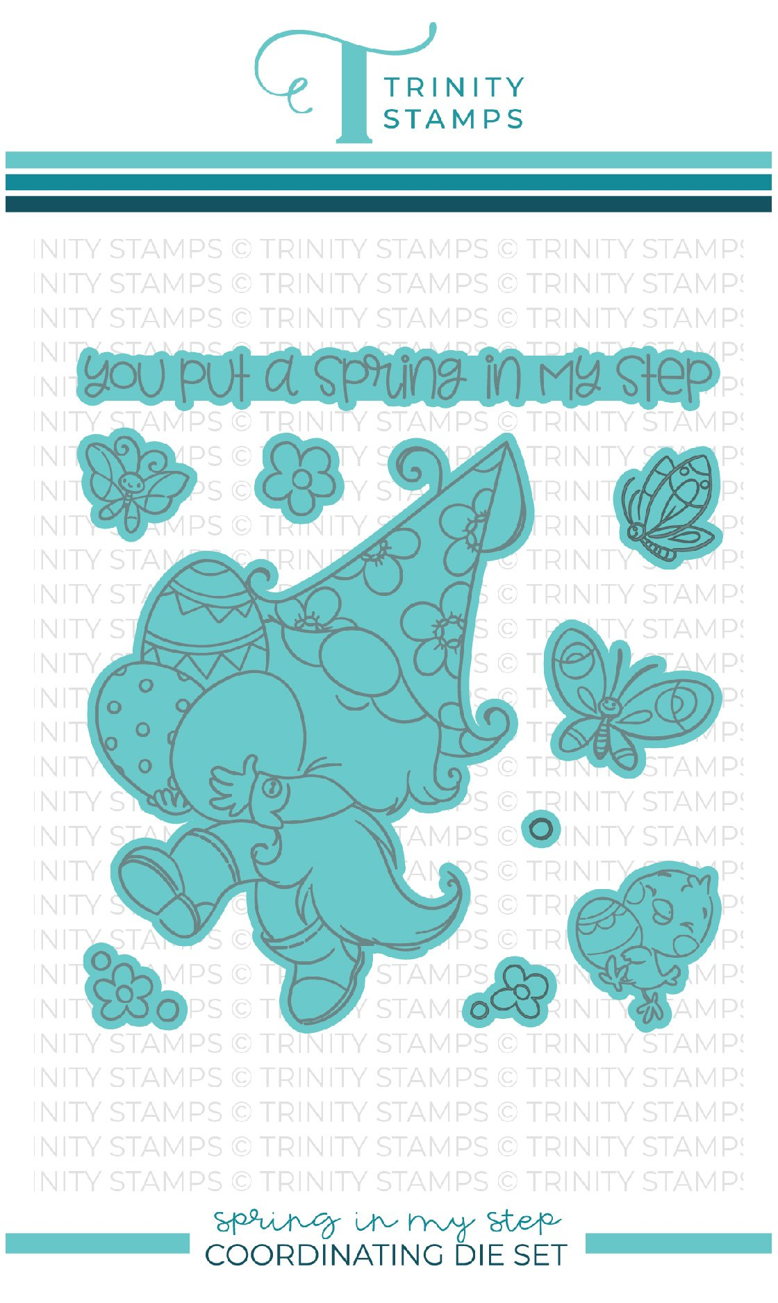 *NEW* - Trinity Stamps - Spring In My Step Coordinating Die Set