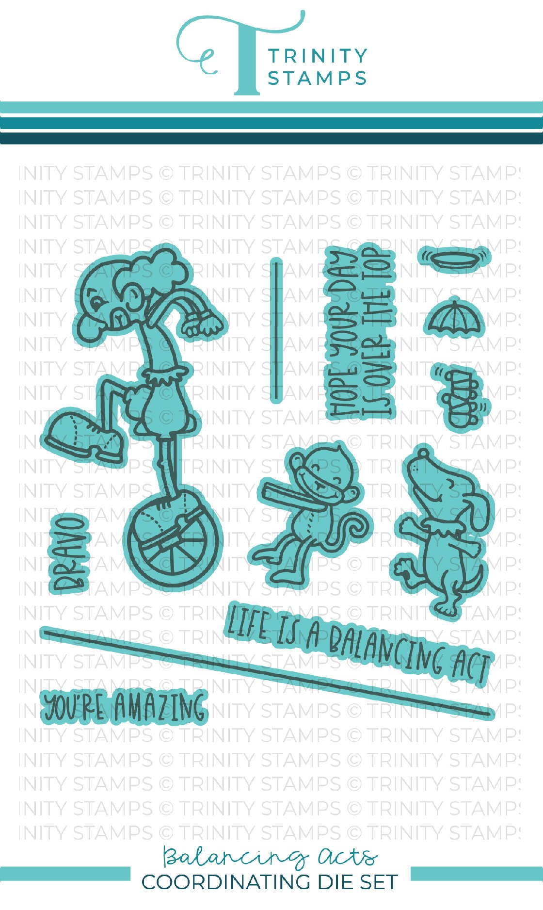 *NEW* - Trinity Stamps - Balancing Acts coordinating die set