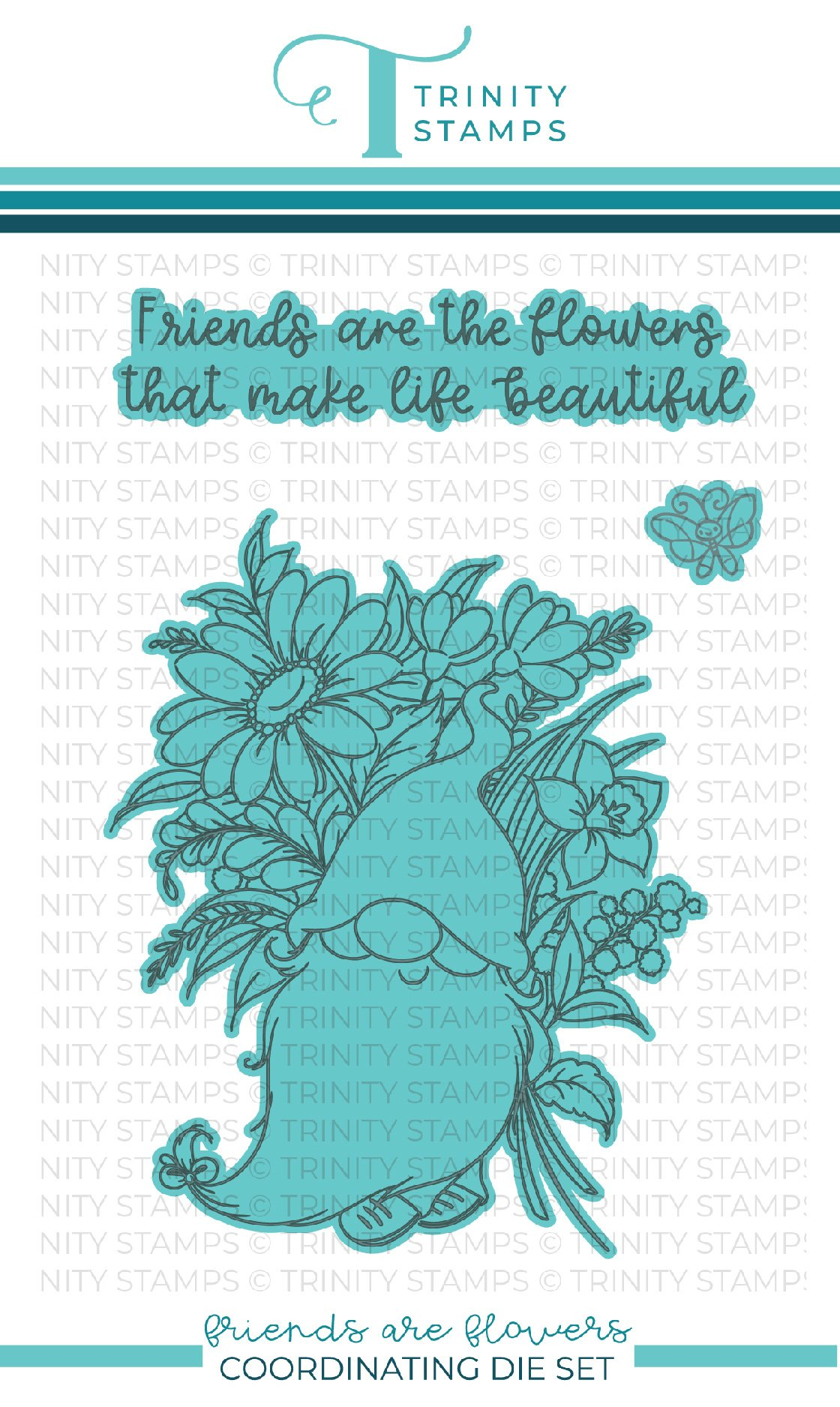 *NEW* - Trinity Stamps - Friends are Flowers coordinating die set