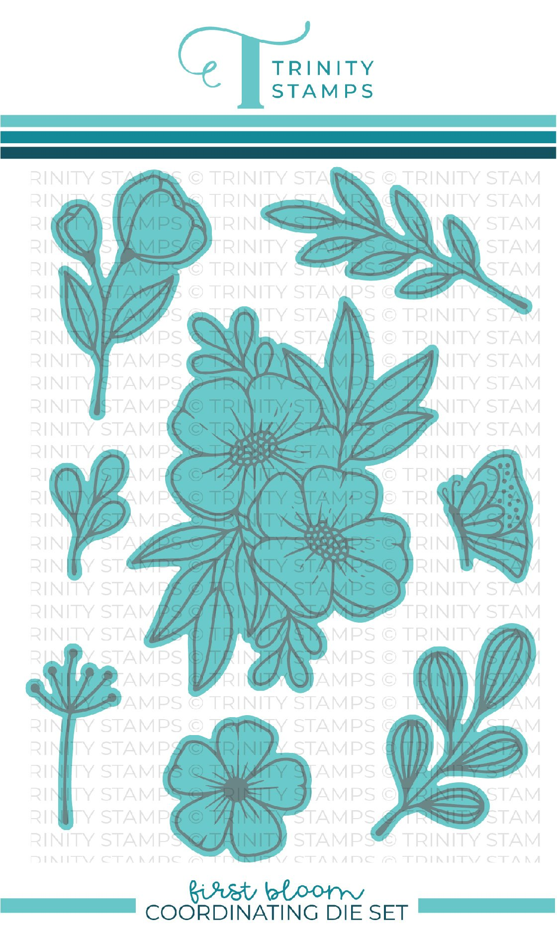 *NEW* - Trinity Stamps - First Bloom Coordinating Die Set