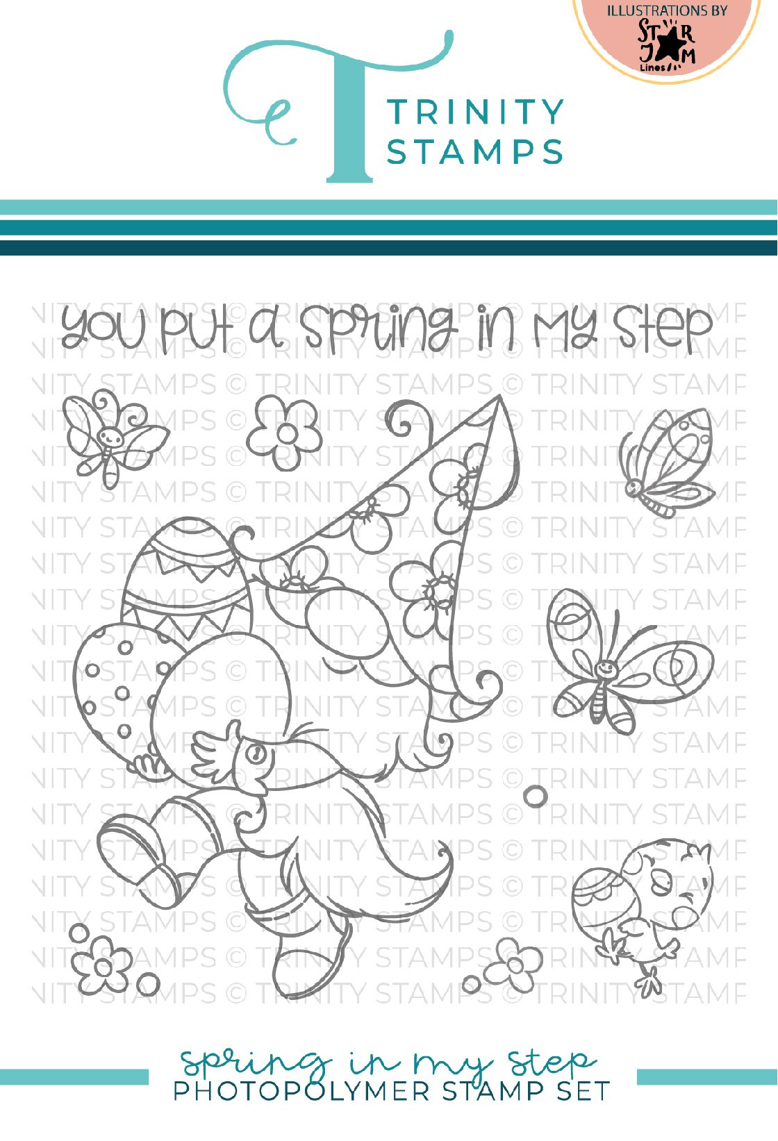 *NEW* - Trinity Stamps - Spring in my Step 4x4 Stamp Set