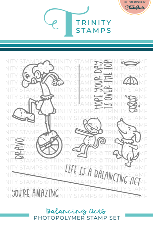 *NEW* - Trinity Stamps - Balancing Acts 4x4 Stamp Set