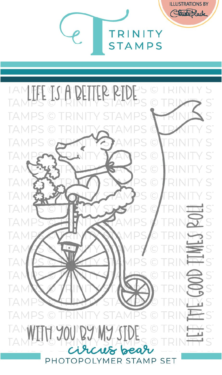 *NEW* - Trinity Stamps - Circus Bear 3x4 Stamp Set