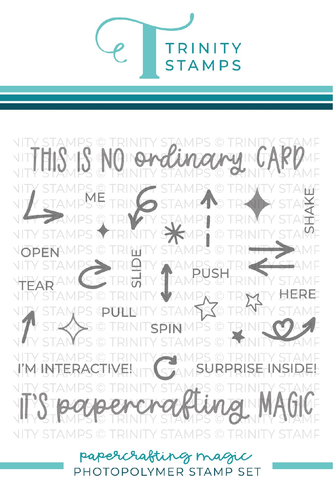 *NEW* - Trinity Stamps - Papercrafting Magic 4x4 Stamp Set