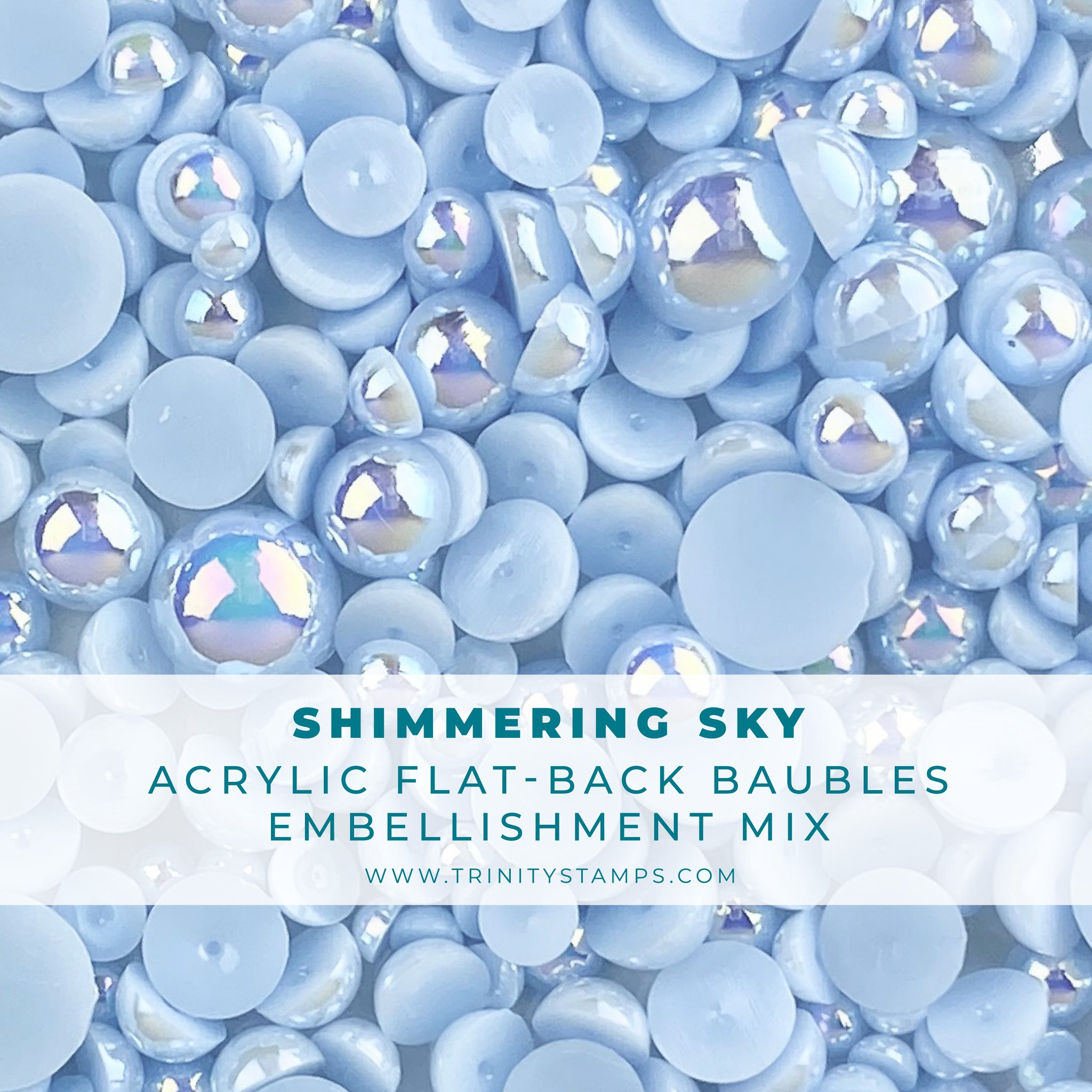 *NEW* - Trinity Stamps - Shimmering Sky Baubles Embellishment Mix