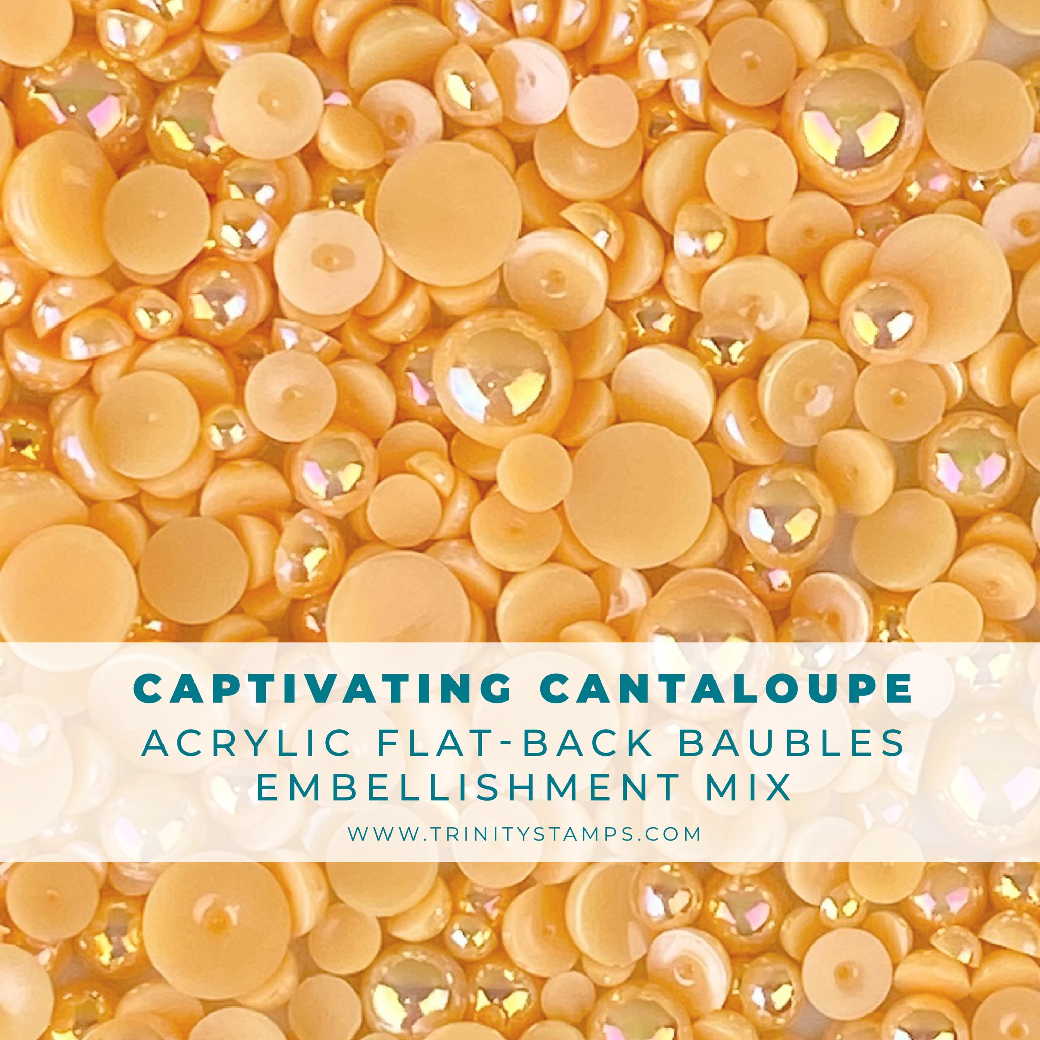 *NEW* - Trinity Stamps - Captivating Cantaloupe Baubles Embellishment Mix