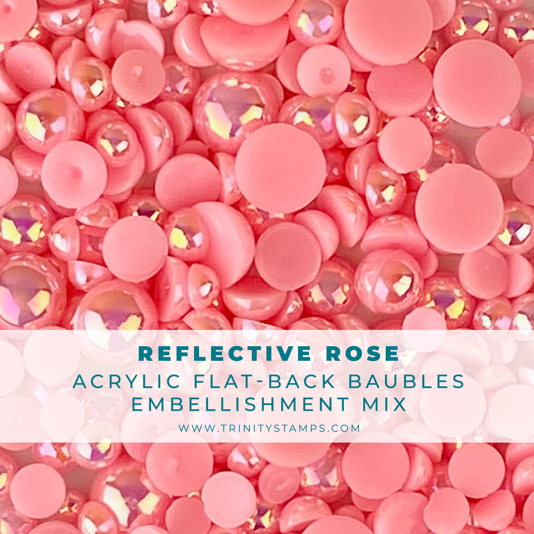 *NEW* - Trinity Stamps - Reflective Rose Baubles Embellishment Mix