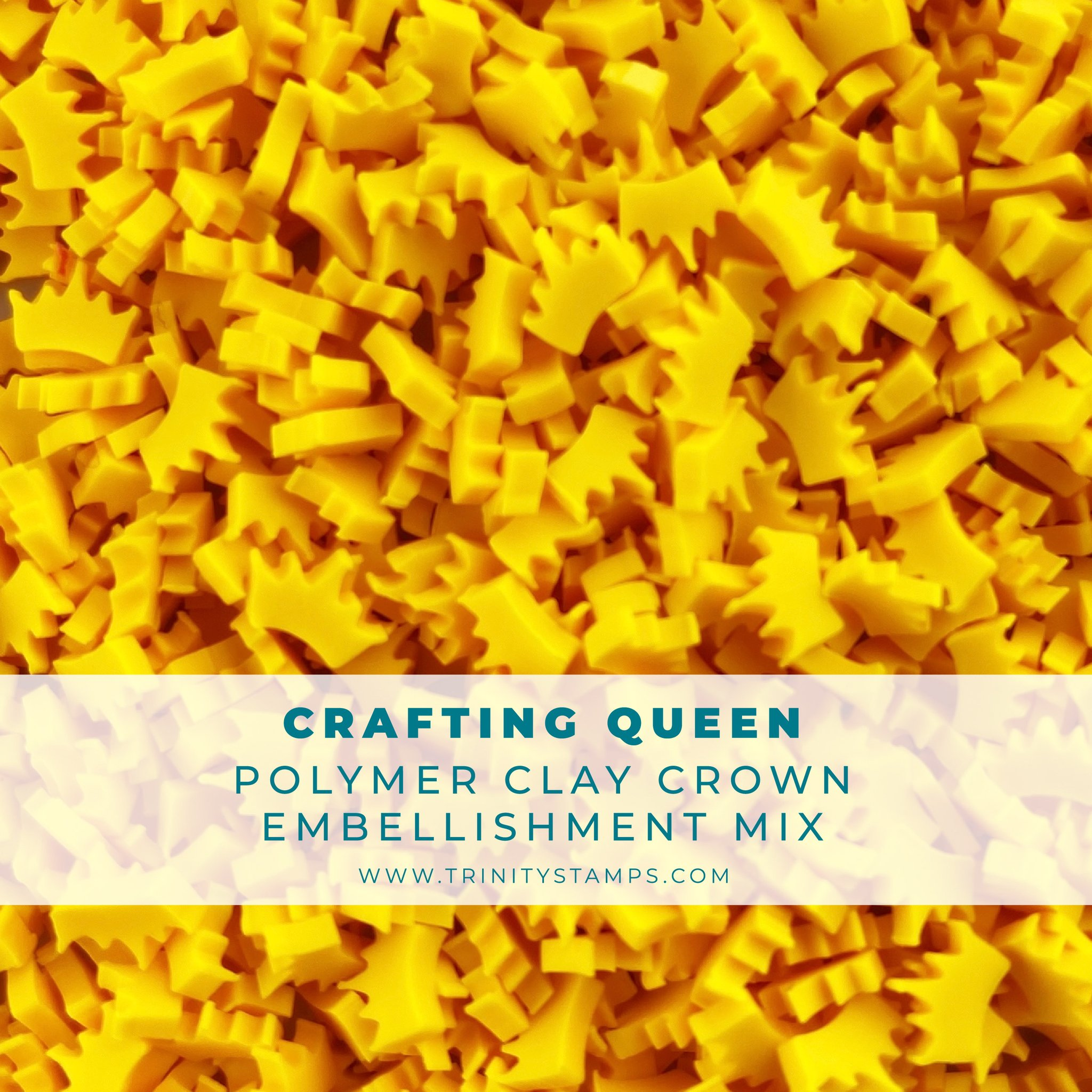 *NEW* - Trinity Stamps - Crafting Queen Clay Crown Embellishment Mix