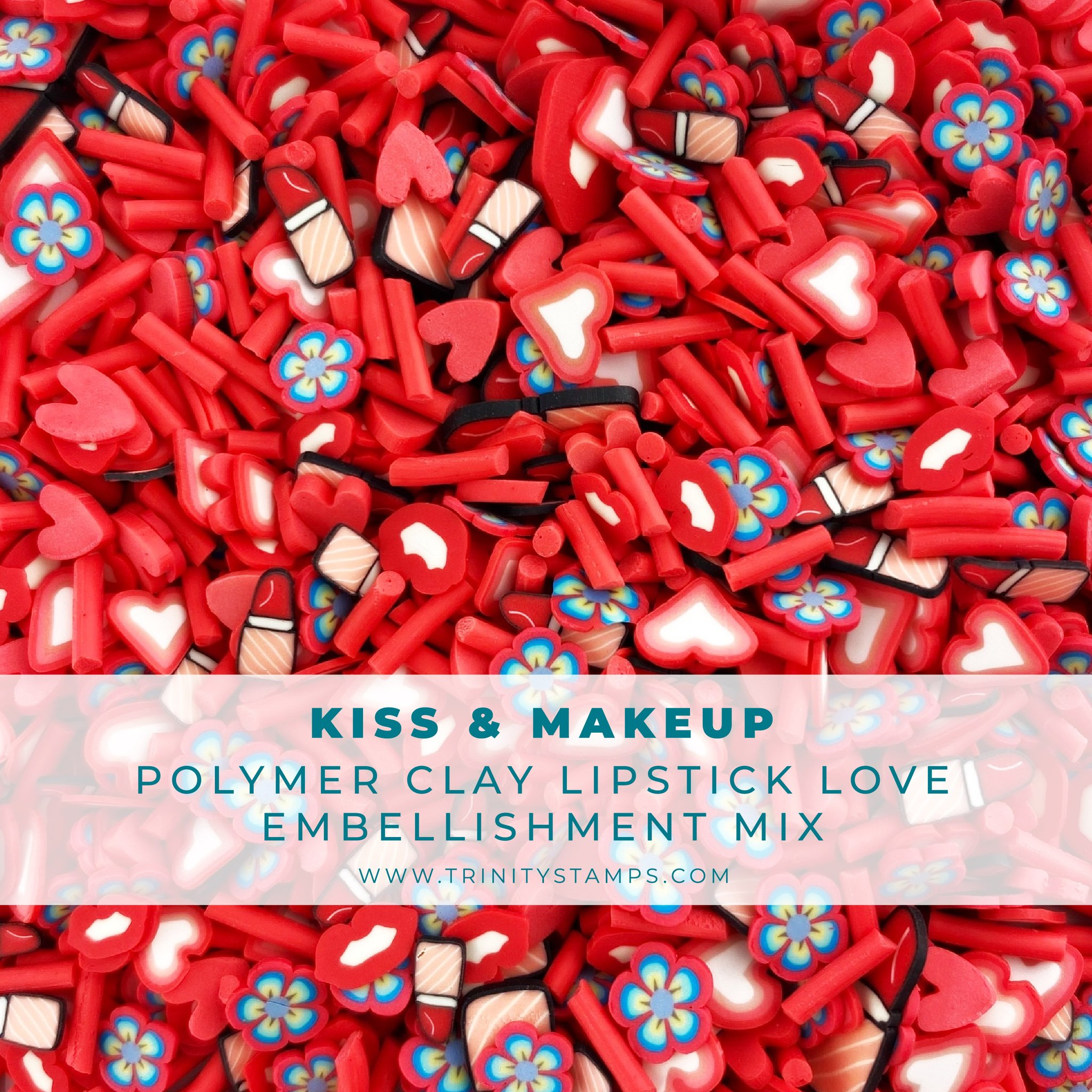 *NEW* - Trinity Stamps - Kiss & Makeup Clay Embellishment Mix