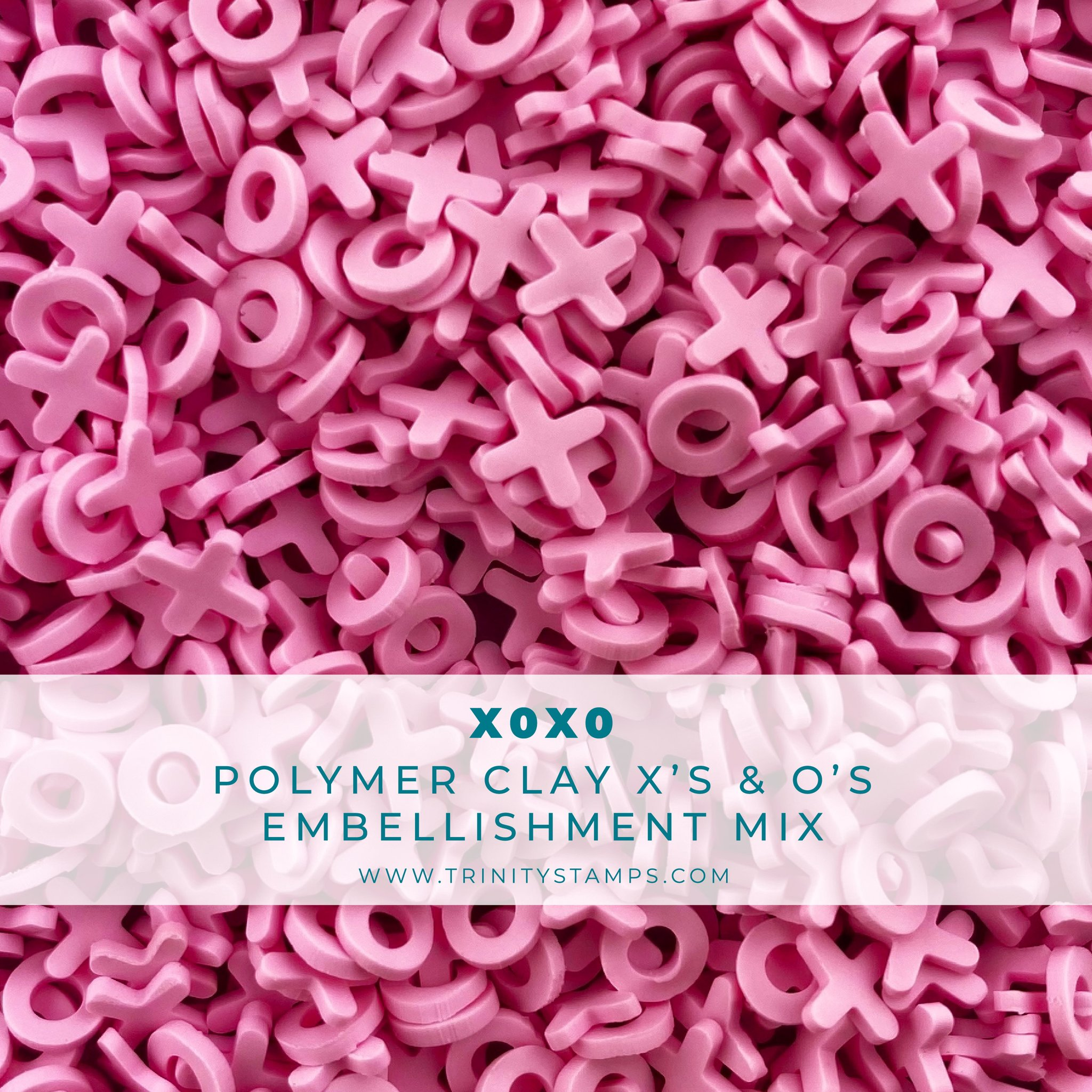 *NEW* - Trinity Stamps - XOXO Clay Embellishment Mix