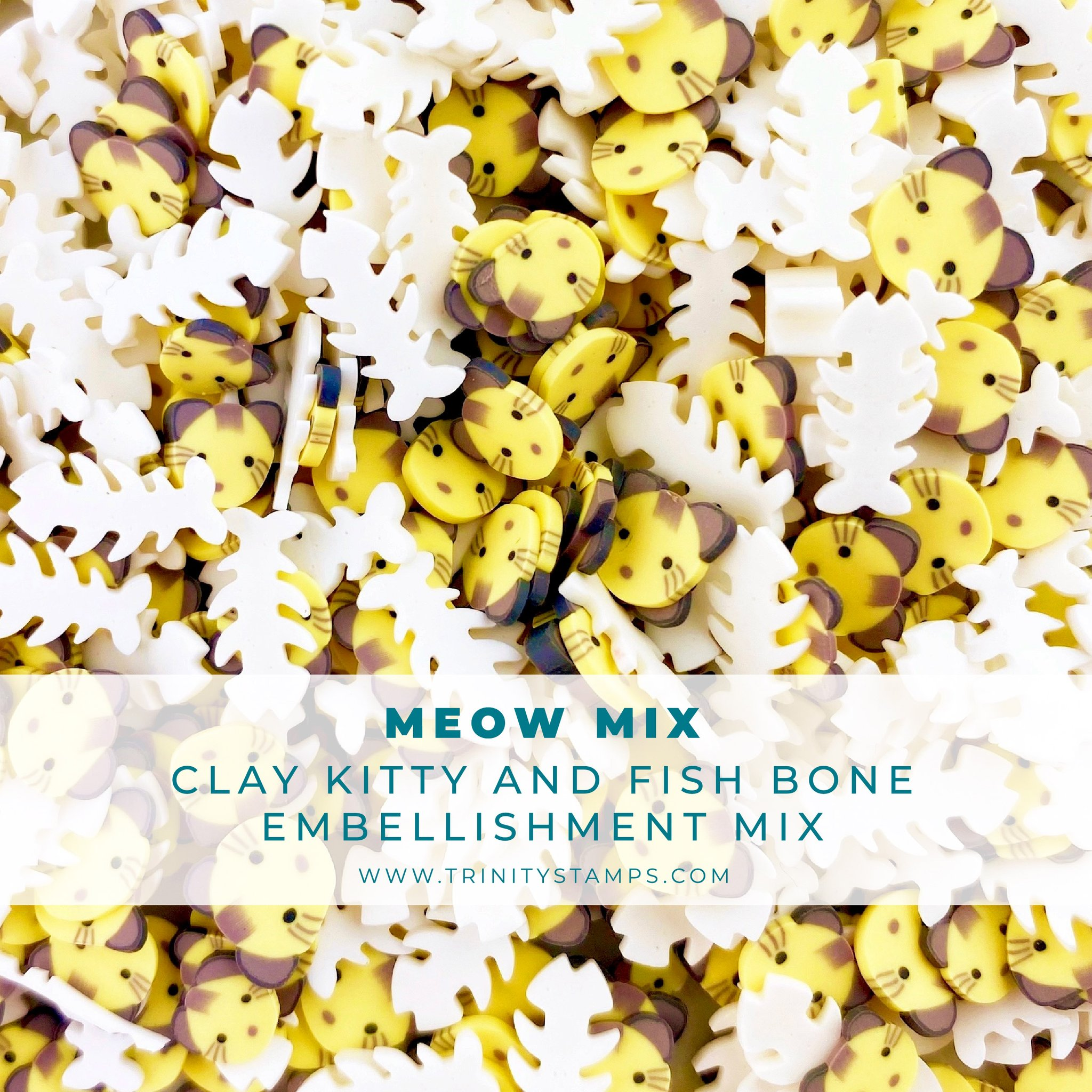 *NEW* - Trinity Stamps - Meow Mix Clay Embellishment Mix