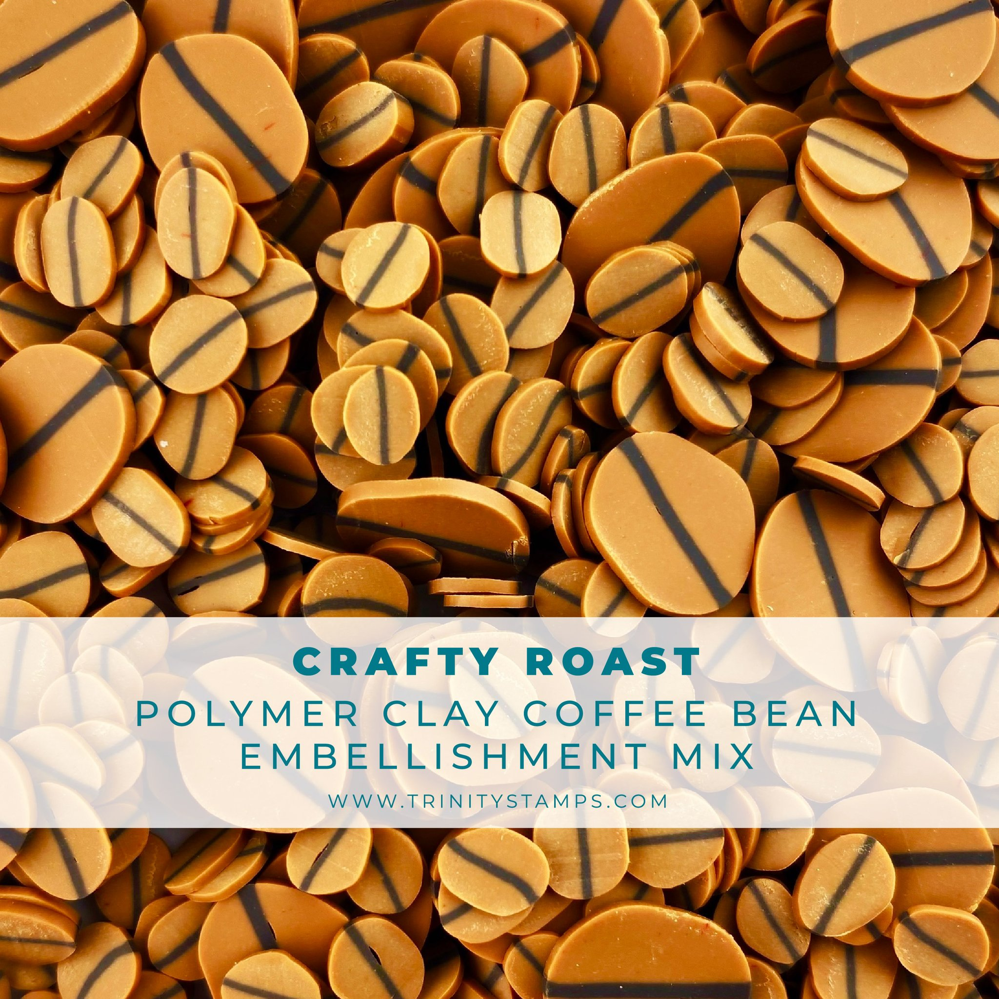 *NEW* - Trinity Stamps - Crafty Roast Clay Coffee Bean Embellishment Mix