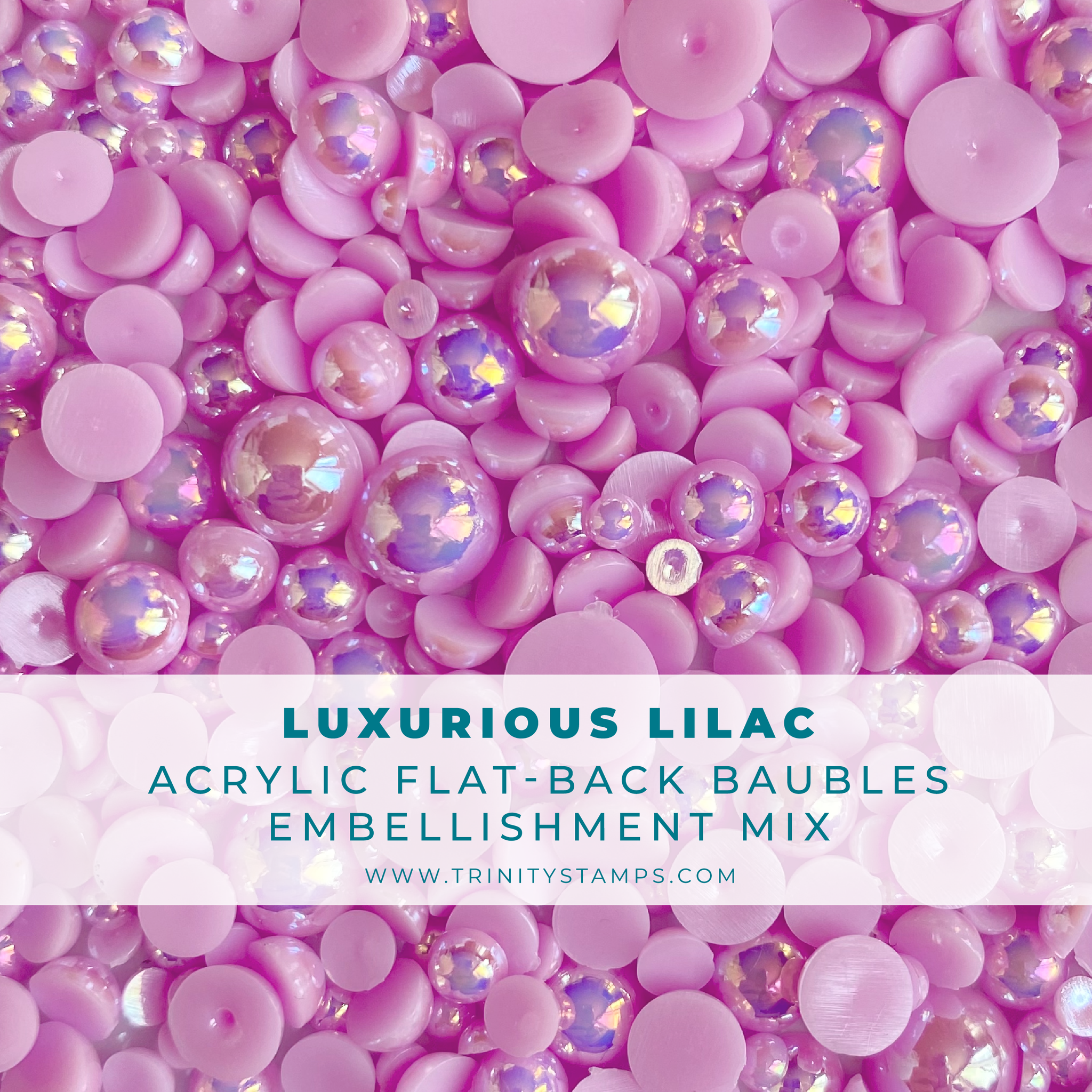 *NEW* - Trinity Stamps - Luxurious Lilac Baubles Embellishment Mix