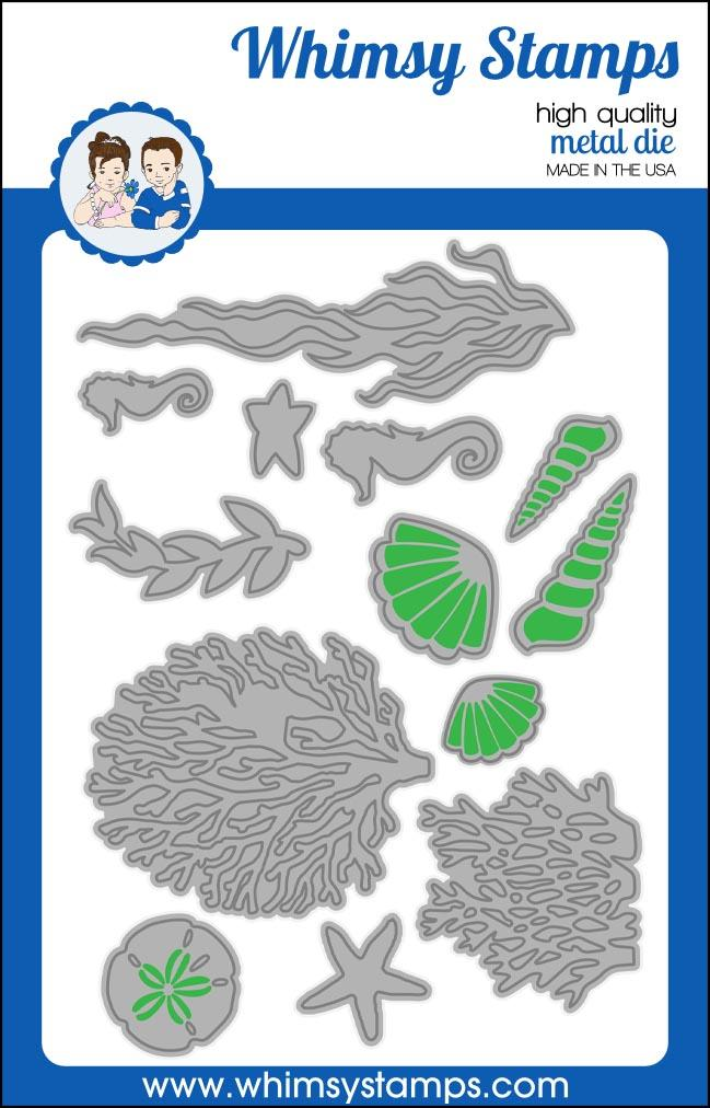 *PRE-ORDER* - Whimsy Stamps - Build-an-Ocean Die Set