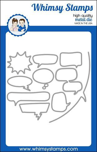 Whimsy Stamps - Comic Speech Bubbles Die Set