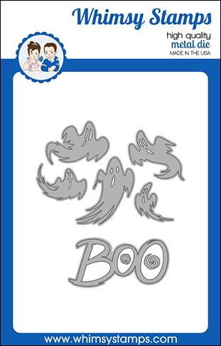 *NEW* - Whimsy Stamps - Boo Die Set