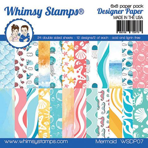 *PRE-ORDER* - Whimsy Stamps - 6x6 Paper Pack - Mermaid