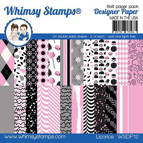 *NEW* - Whimsy Stamps - 6x6 Paper Pack - Licorice