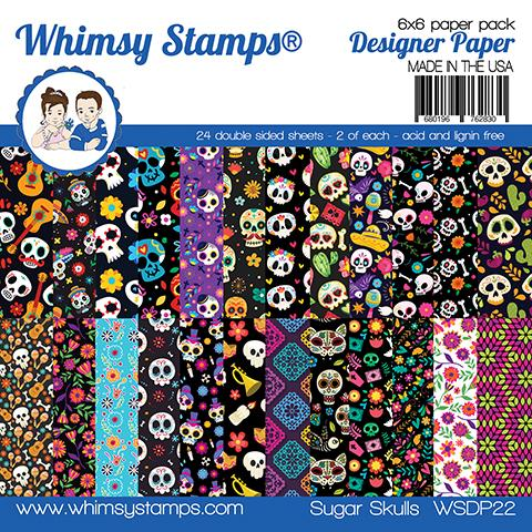 *NEW* - Whimsy Stamps - 6x6 Paper Pack - Sugar Skulls