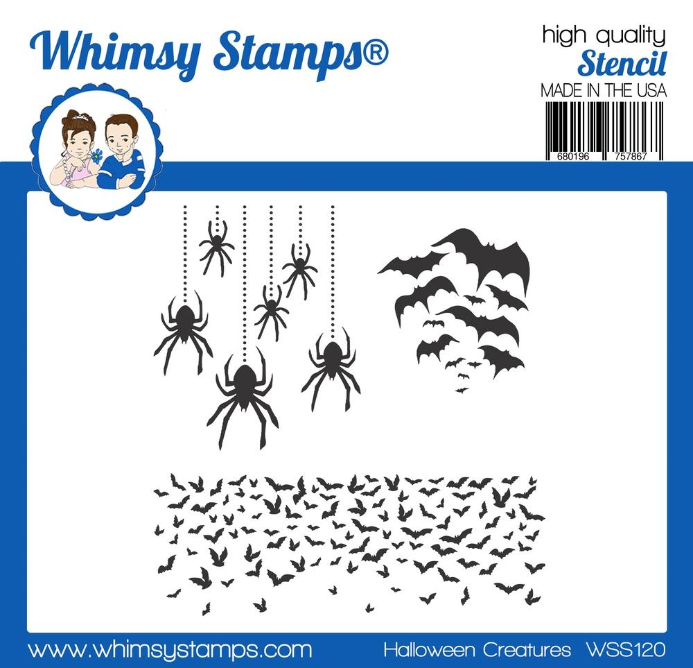 *NEW* - Whimsy Stamps - Halloween Creatures Stencil