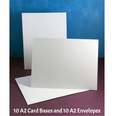 Your Next Stamp - White A2 Card Bases with Envelopes