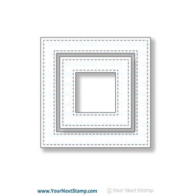 Your Next Stamp- Stitched Square Frame Die Set