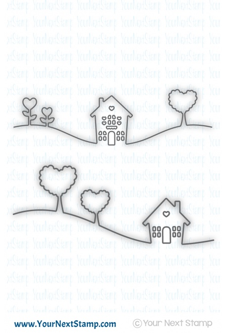 Your Next Stamp - Home is where the Heart is Die Set