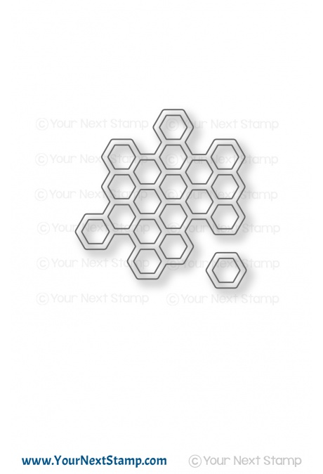 Your Next Stamp - Honeycomb Die Set