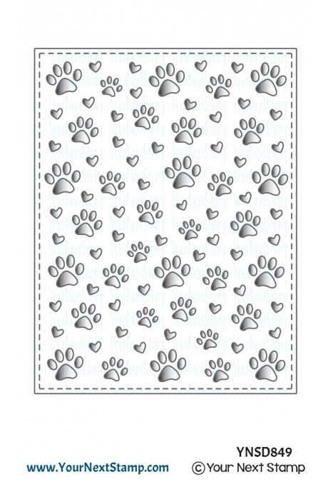 Your Next Stamp - Paw Print Panel Die